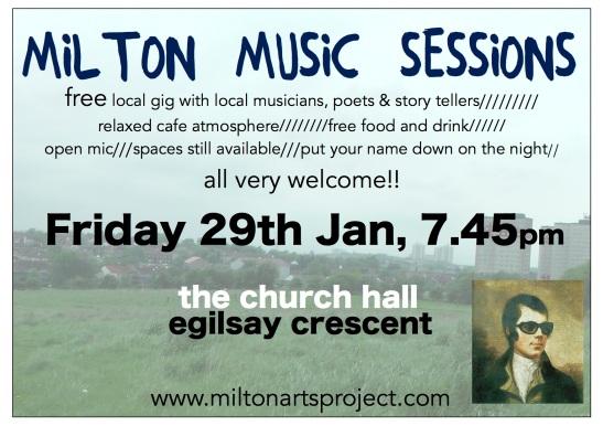 Milton Music Sessions Jan 29th